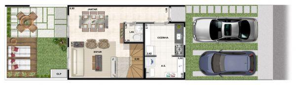 Jacarei.Com Casa no condomínio Vert Ville no Prolongamento Santa Maria em Jacareí, 3 Dormitório sendo 1 Suíte.