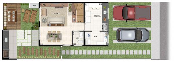 Jacarei.Com Sobrado no Vert Ville com corredor no Prolongamento Santa Maria em Jacareí, 3 Dormitórios sendo 1 Suíte.