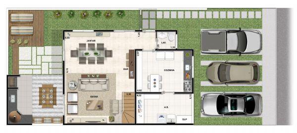 Jacarei.Com - Sobrado no Condomínio Vert Ville no Santa Maria em Jacareí, 4 Dormitórios sendo 2 Suítes
